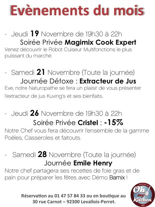 Evénements Novembre 2015